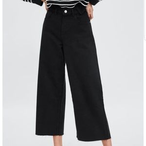 NWT Zara Mid-rise Culotte Jeans